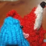 YooHoooey! the KitKnit Pigeon & Dustbin the Fleabitten Fox by karibirch in Hemel Hempstead, UK