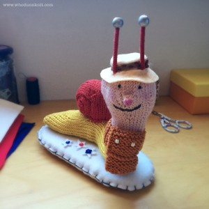 brian snail knitted