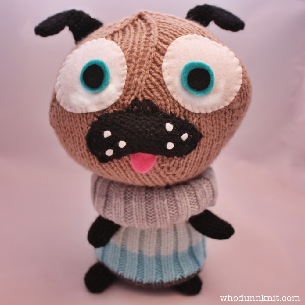 Whodunnknit » Free pattern: Little Knitted Polar Pug