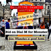For sale: the world's only knitted BT ArtBox Monster
