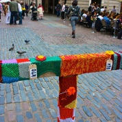 London: Graffiti knitting confessional