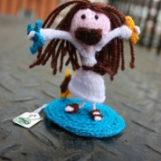 Holy Handmade, it's knitted Jesus!