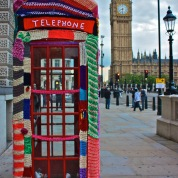 Phonebox Cosy: A yarnstorm hits Parliament Square