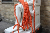 Meet Plarchie: the giant plastic knitted squid