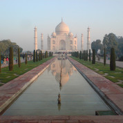 "Agra (Taj Mahal): ""A teardrop on the face of eternity"""