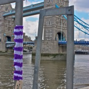 Knitblast the Seventh: confused Tower Bridge tourists