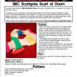 Free pattern: BBC Scarfgate or Knitting the Scarf of Doom