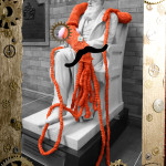 Plarchie the Knitted Squid to Party with China Miéville