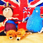 Little knitted Queen's Jubilee jolly