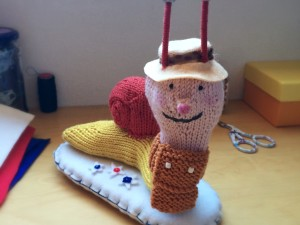 Little Knitted Brian the Snail