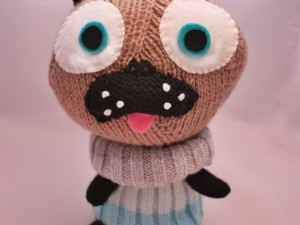 Little Knitted Polar Pug